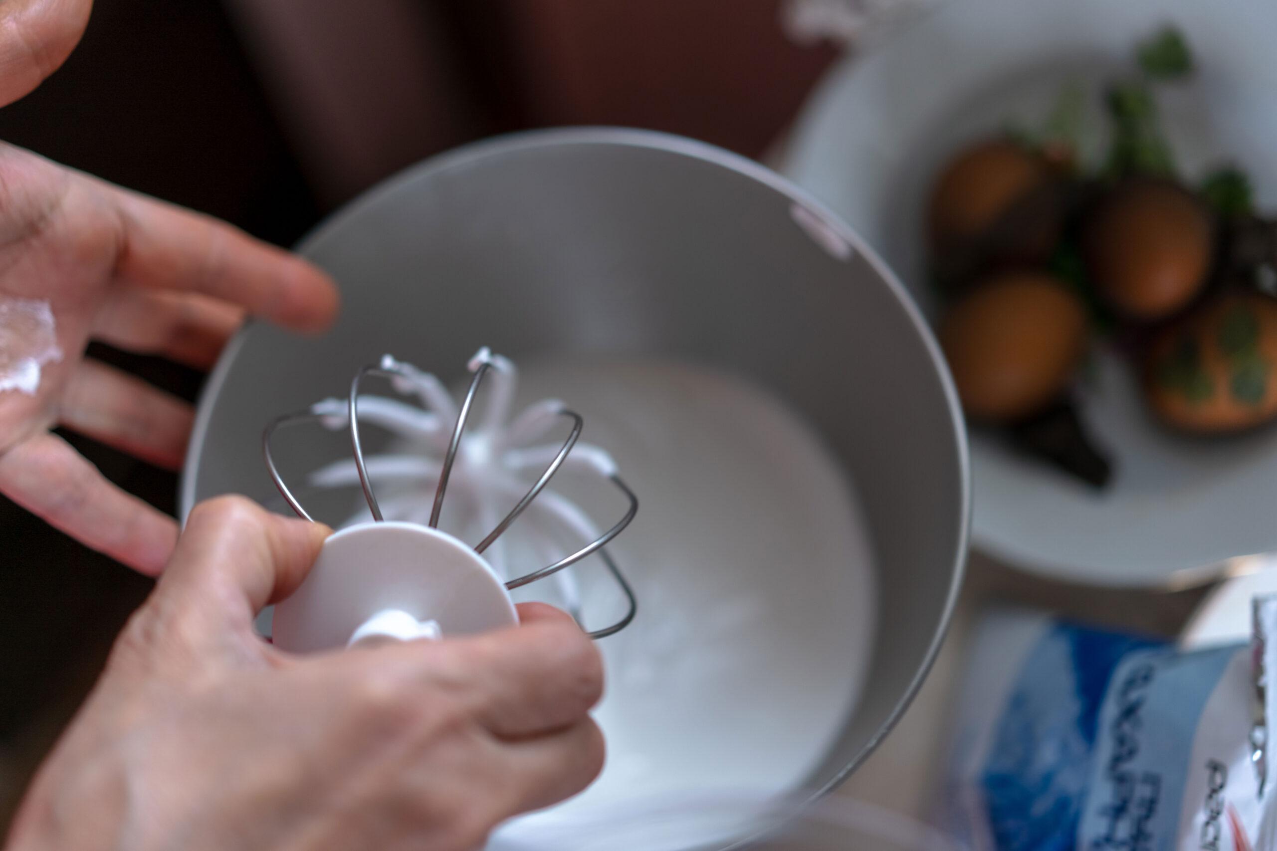hvordan piske krem kjokkenmaskin kenwood kitchenaid