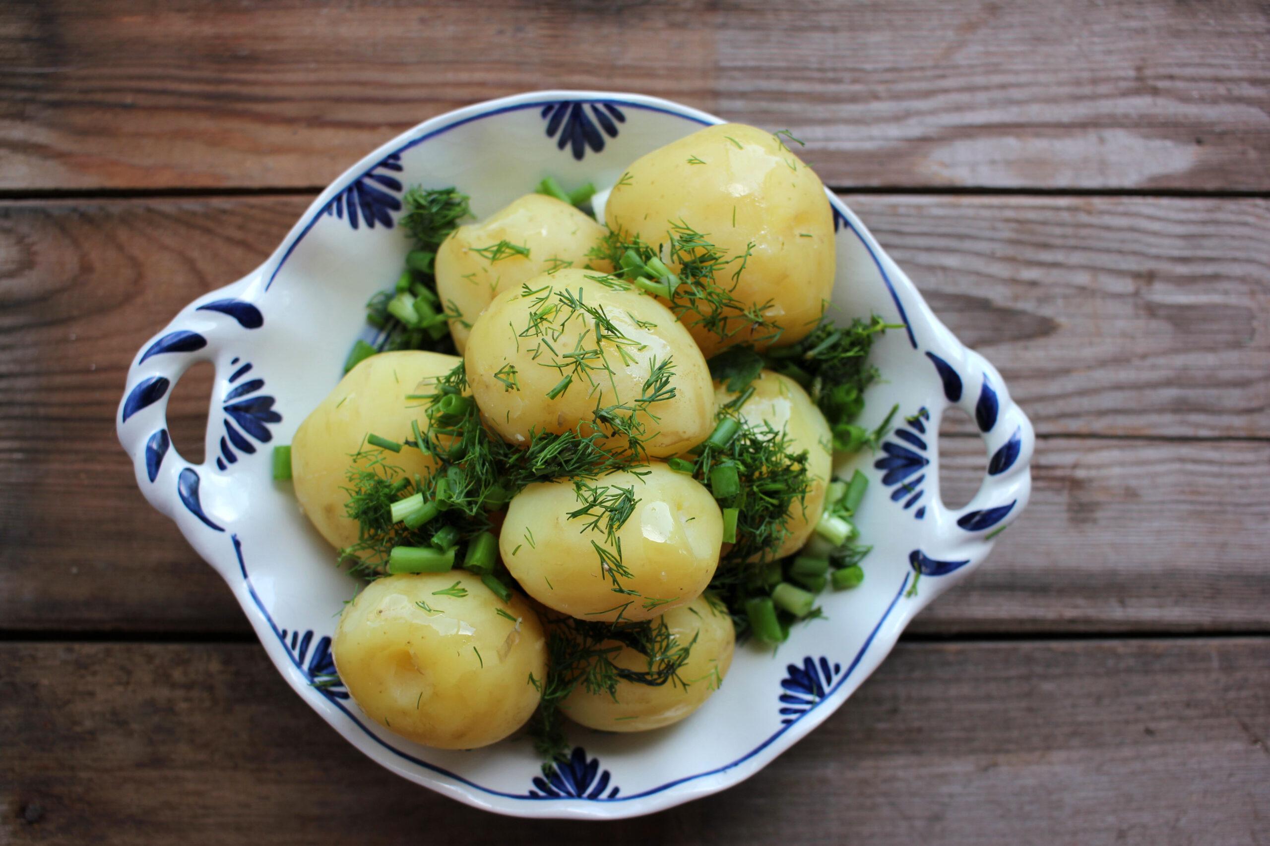 Oppskrift kokte poteter koketid tips matlaging