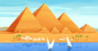 Hvordan regne overflate av pyramide